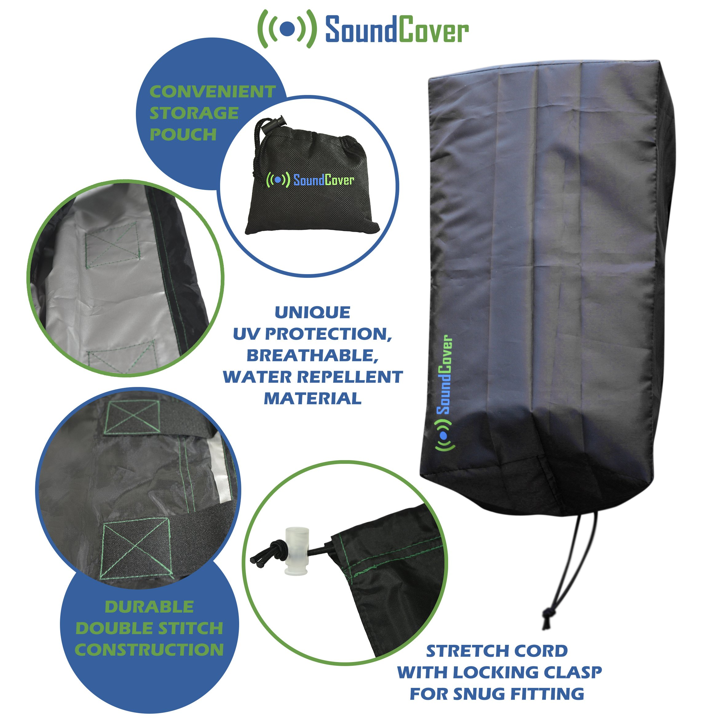 Sun / Dust / Water Protection for Outdoor Speakers - Outdoor Speaker Covers for Yamaha NS-AW194 and Polk Audio Atrium 4 by SoundCover