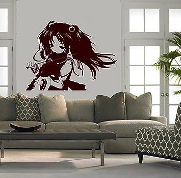 Wall Mural Vinyl Sticker Decal Anime Manga Girl Playing Violin D1648 Part 82