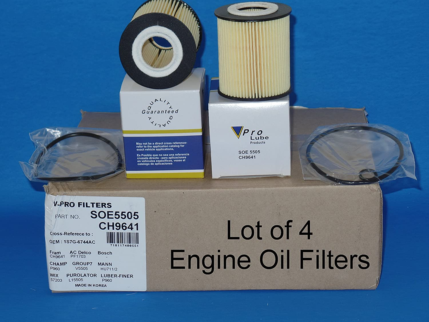Lot of 4) L15505 / SOE5505 Engine Oil Filter Fits:FORD ESCAPE FUSION