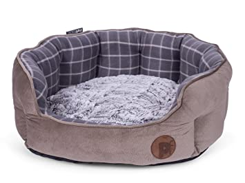 556bd84b581c Image Unavailable. Image not available for. Colour: Petface Bamboo Oval Dog  Bed ...