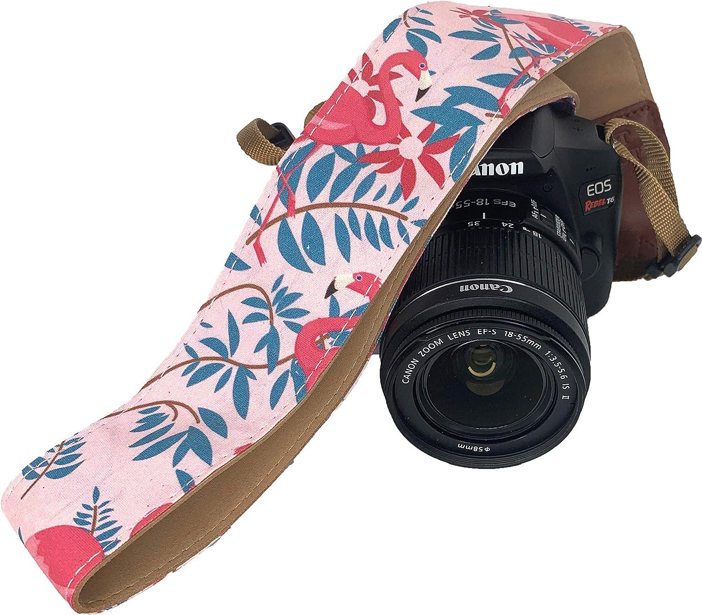 Cotton Elegant Universal Neck /& Shoulder Strap Flamingo Pink Camera Strap for All DSLR Camera Camera Strap for Canon Nikon Best Stocking Stuffer for Men /& Women Photographers
