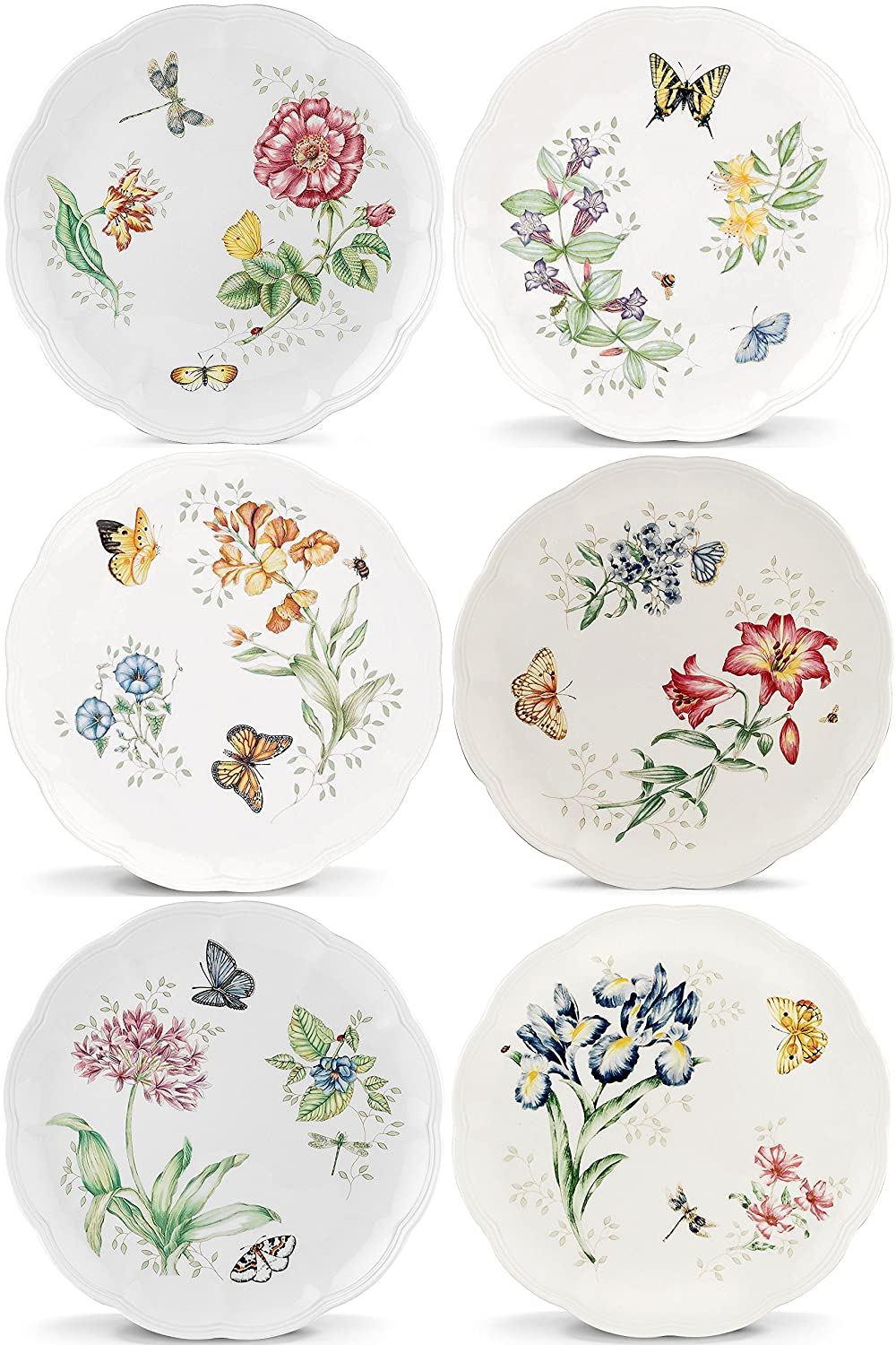 Lenox Butterfly Meadow Dinner Plates, Assorted Set of 6