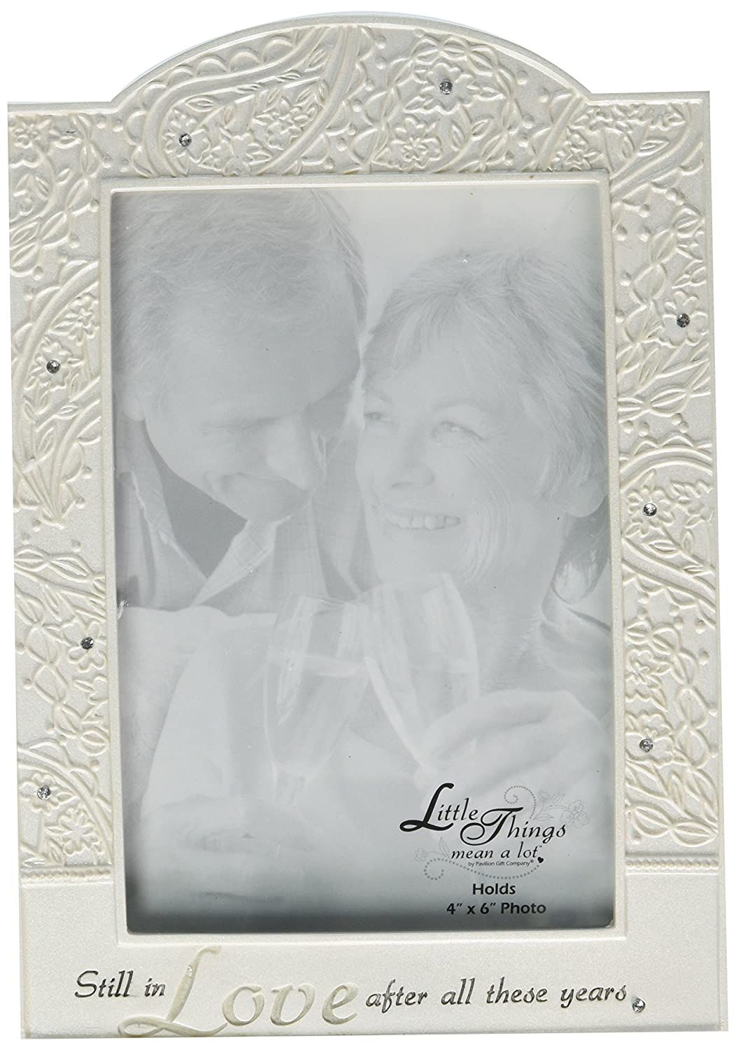 Little Things Mean A Lot Still in Love Picture Frame, 5 by 8-Inch, Holds 4 by 6-Inch Photo Pavilion Gift Company 74613