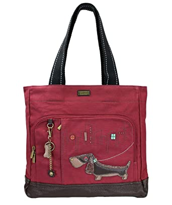3a3910f1c004 Amazon.com  Chala Weiner Dog Pocket Tote Shoulder Bag - Dog Lovers Gifts  Dachshund Mom  Clothing