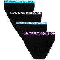 Bonds Men's Underwear Cotton Hipster Brief (4 Pack)
