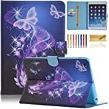 iPad mini Case, iPad mini 2 Case, Dteck(TM) Butterfly Series Case with Card Slot Pouch [Auto Sleep/Wake Feature] Smart Magnetic Closure Stand Cover for Apple iPad Mini 3/2/1 (01 Twinkle Butterfly)