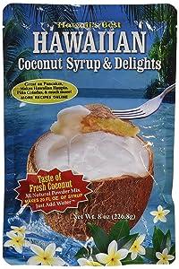 Kauai Tropical Syrup, Inc Hawaiian Coconut Syrup and Delights, 8.0 Ounce