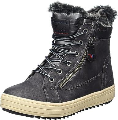 lacets-Boots Tom Tailor Femmes Bottine vert foncé Taille 37-43