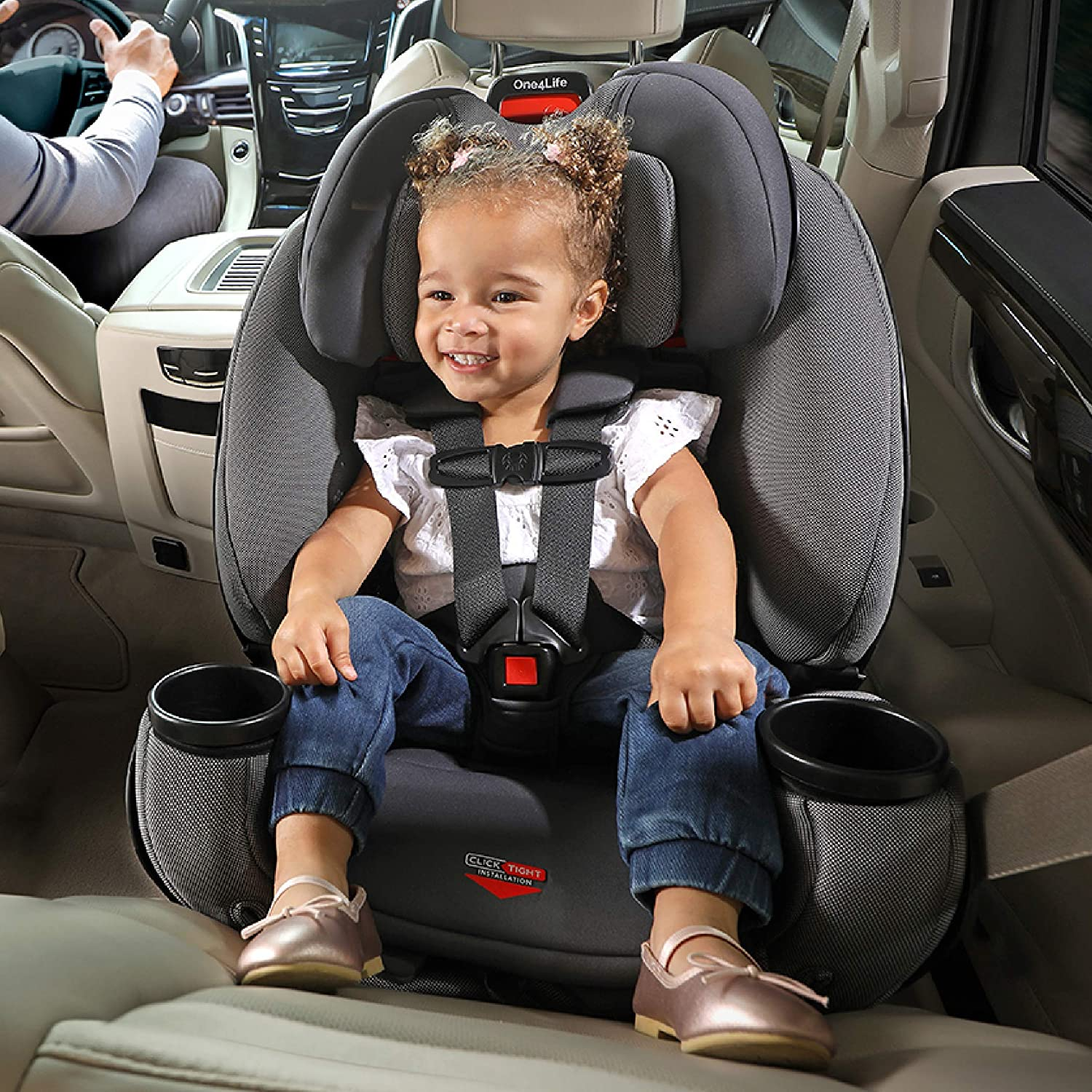 Safewash Fabric 5 to 120 Pounds Britax One4Life Clicktight All-in-One Convertible Car Seat Drift