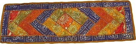 Camino de mesa indio bordado de lentejuelas Patchwork colgar en ...