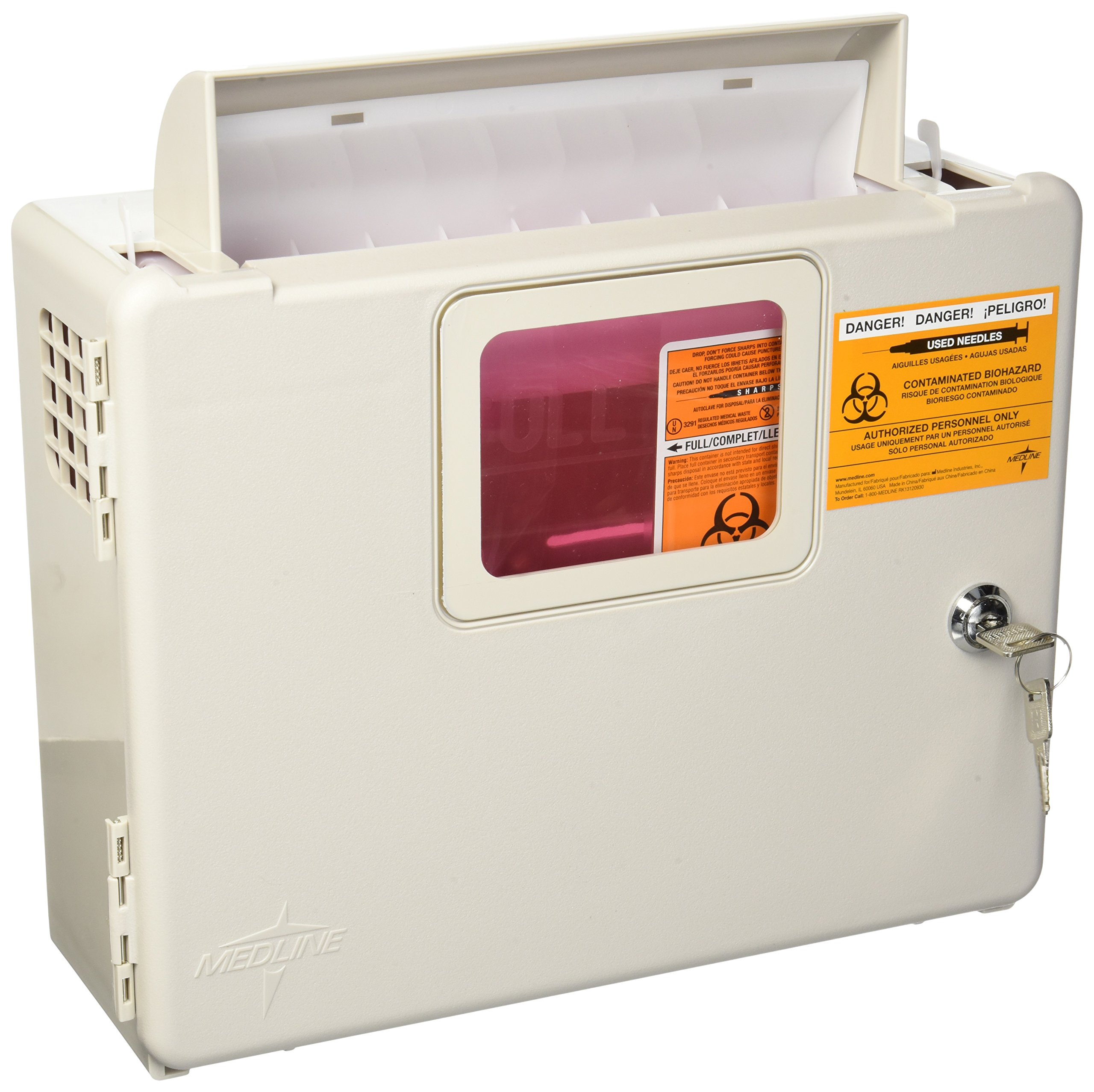 Kendall Wall Cabinet F/5Qt Sharps - Model 85161h by Kendall/Covidien