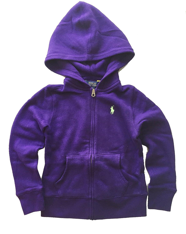 41b13eb4 Amazon.com: Ralph Lauren Big Girl Hoodie Jacket XL(16) Purple: Clothing