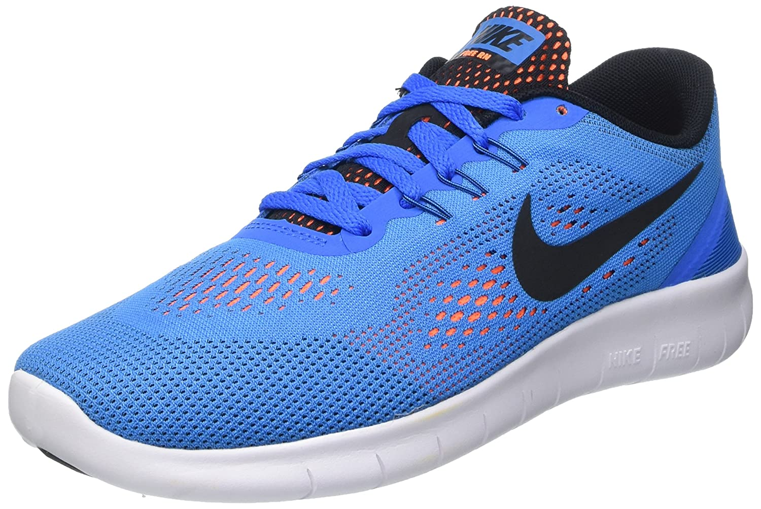 NIKE ' Free Rn (Big) B014S0GJ4S 4 M US|Photo Blue / Black-total Orange-white