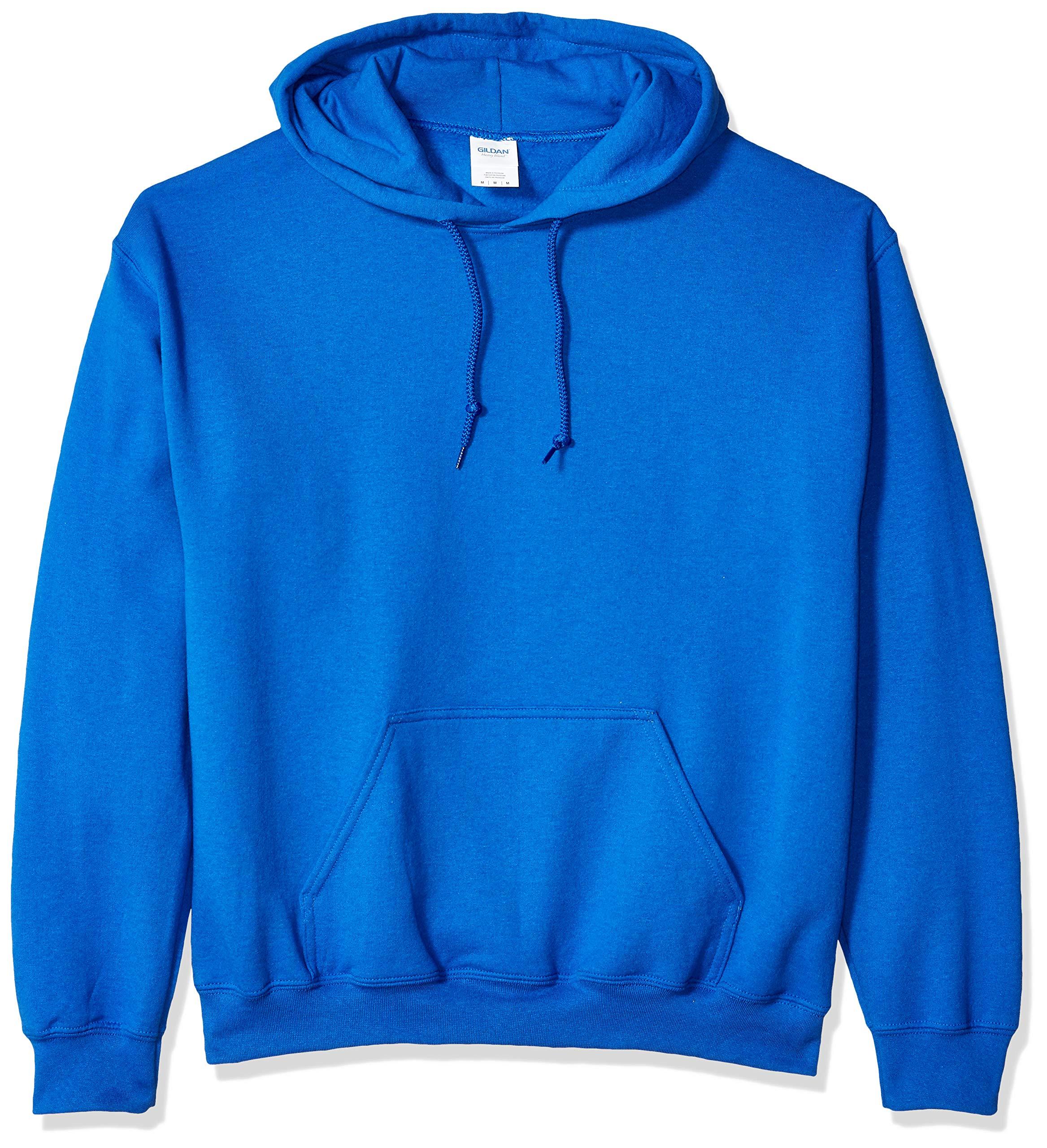 Gildan Men's Heavy Blend Fleece Hooded Sweatshirt G18500, Royal, Small
