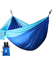 Utopia Home Supreme Nylon Hammock- Supports Up to Two People or 400 LBS - Porch, Backyard, Indoor, Camping - Durable, Ultralight Material - Includes Hanging Straps