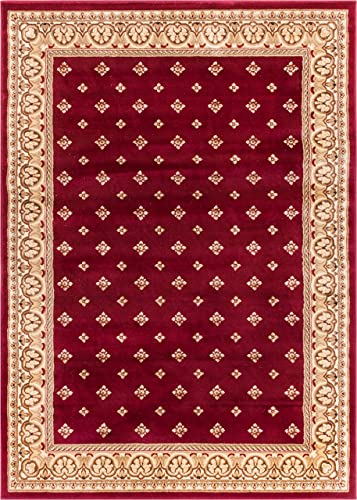 Well Woven Barclay Hudson Terrace Red Traditional Area Rug 7 10 X 9 10