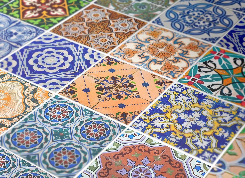 Floreale italiana piastrelle per pavimento foto immagine stock