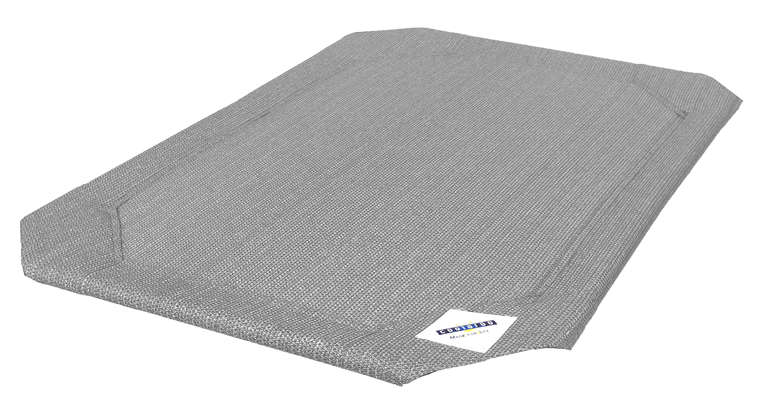 Coolaroo Elevated Pet Bed Replacement Cover, Medium, Grey
