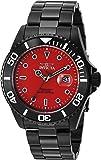 Invicta Men's 'Pro Diver' Quartz Stainless Steel Casual Watch, Color:Black (Model: 23007)