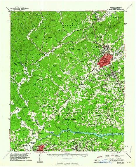 Amazon Com Yellowmaps Lenoir Nc Topo Map 1 62500 Scale 15 X 15
