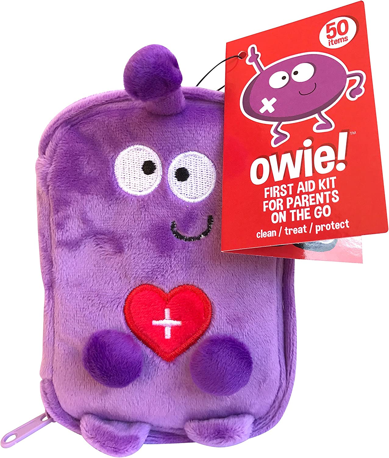 Owie! 50 Essentials Travel and Baby First Aid Kit - Mini Compact Kit
