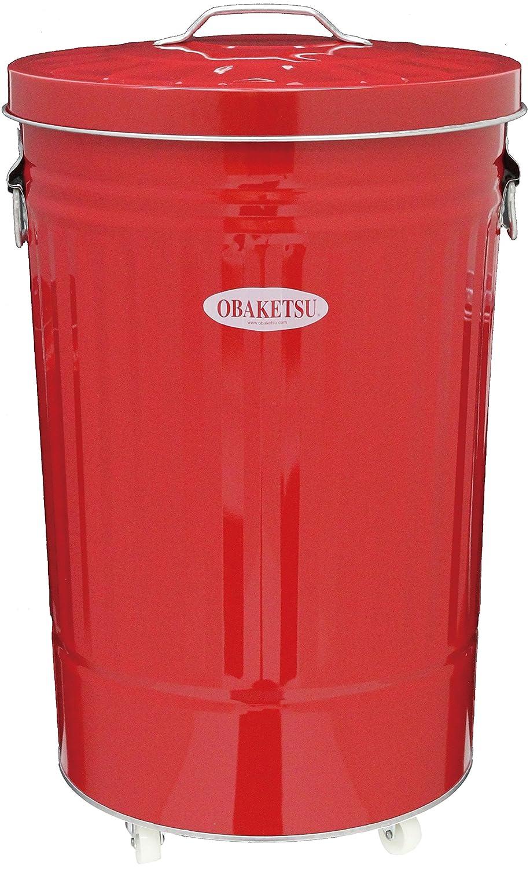 カラーオバケツCRK45赤キャスター付 B0050GJG18