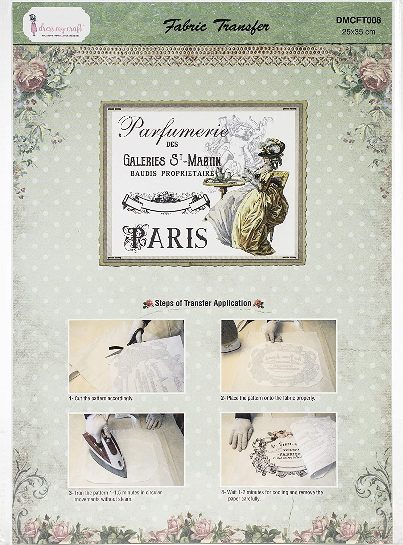 Dress My Craft Fabric Transfer Sheet 24X34cm-Victorian, Victorian Queen W/Cupid
