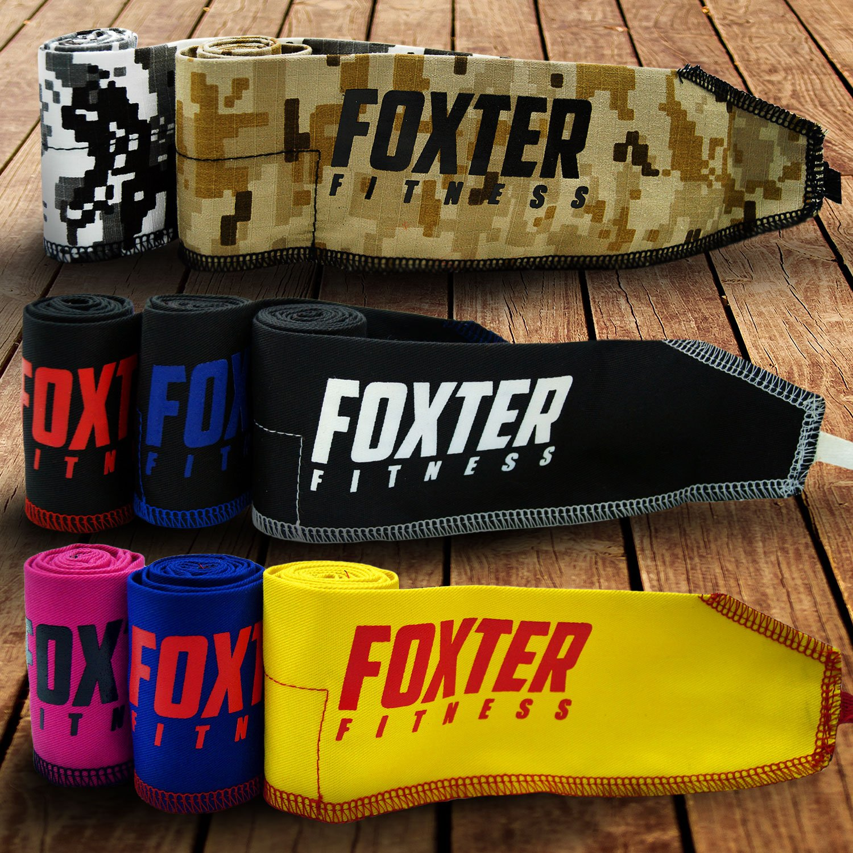 Foxter/ /– / PREMIUM-Qualit/ä t//Fitness//Handgelenk, Training, Fitnessstudio, Crossfit, Gewichtheben, Powerlifting, f/ü r Damen und Herren blau//rot Foxter Fitness