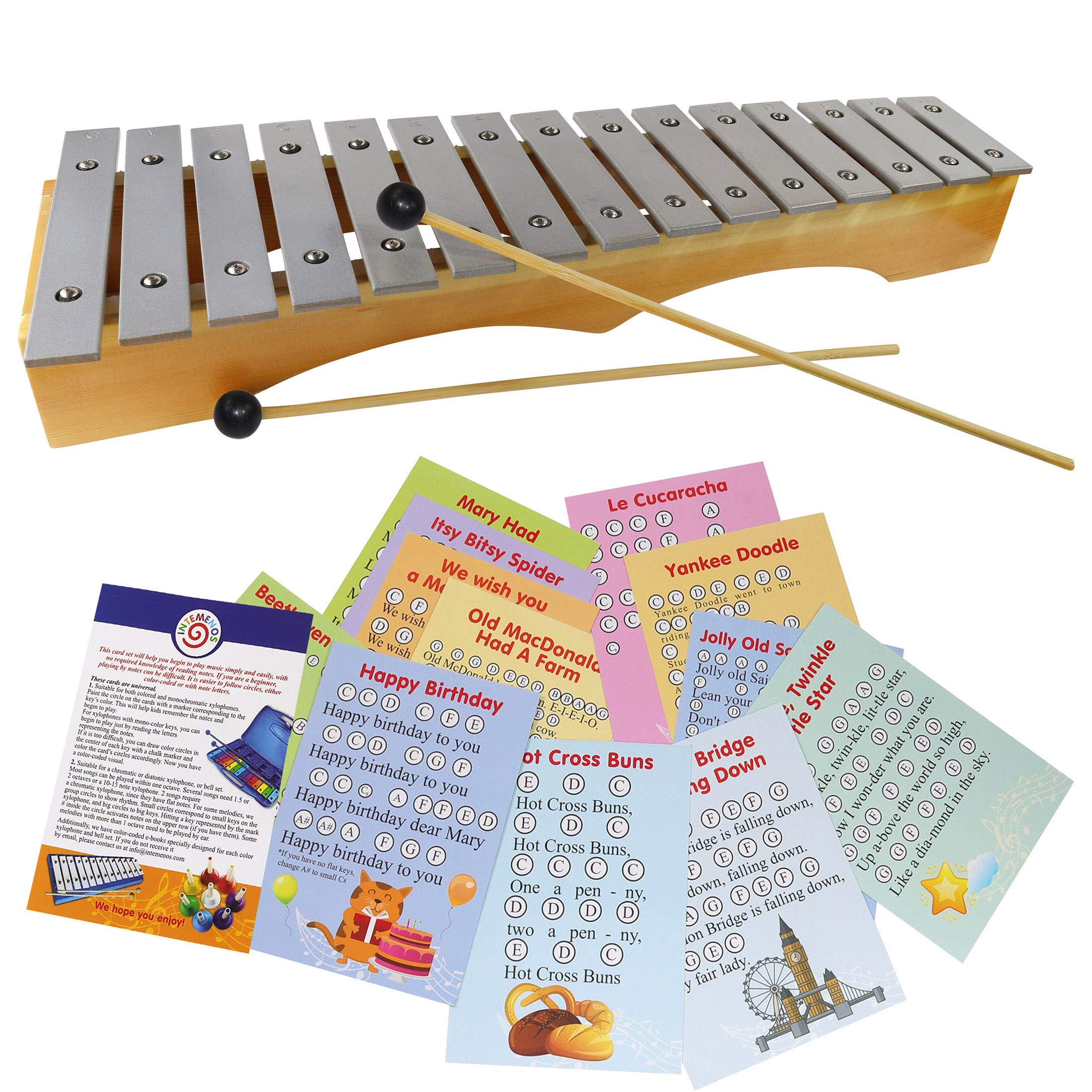 Xylophone for Adults - Professional Diatonic Glockenspiel - Perl Bell Kit Metallophone