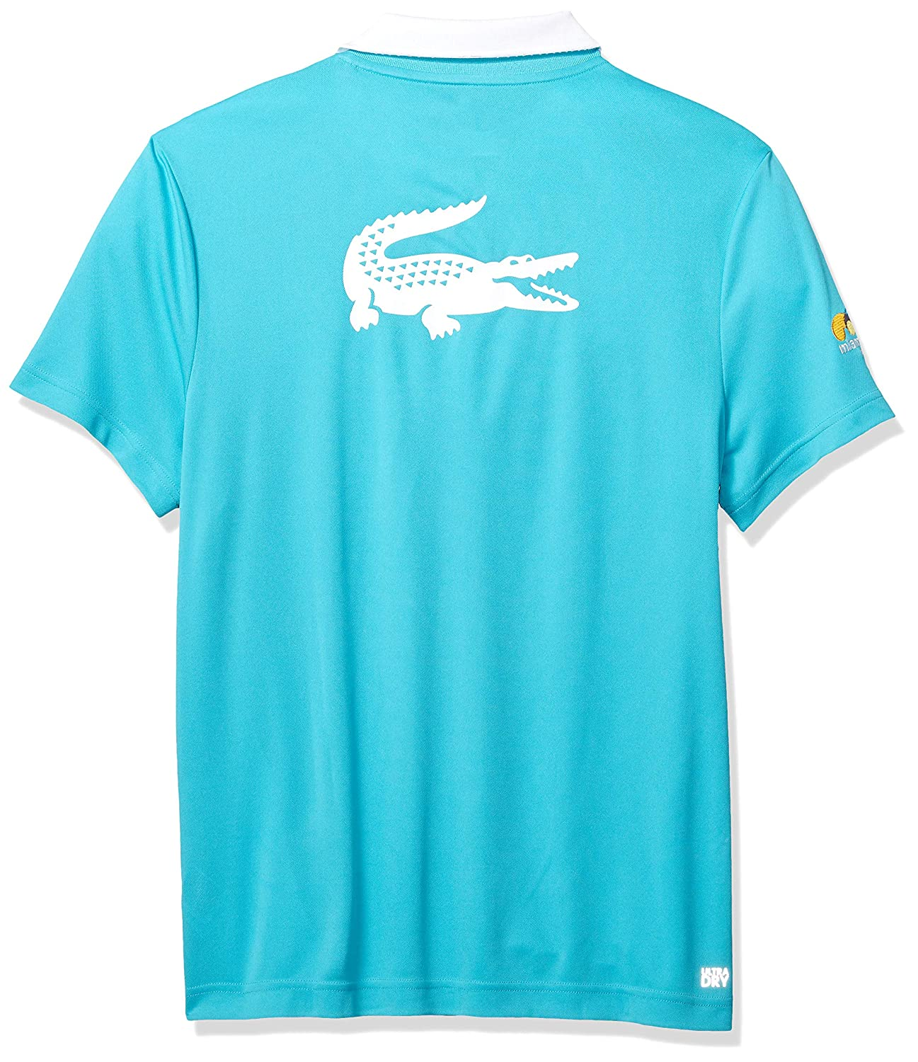 low priced 32548 1f5d9 Lacoste Men s Sport Miami Open Edition Piqué Back Croc Polo at Amazon Men s  Clothing store