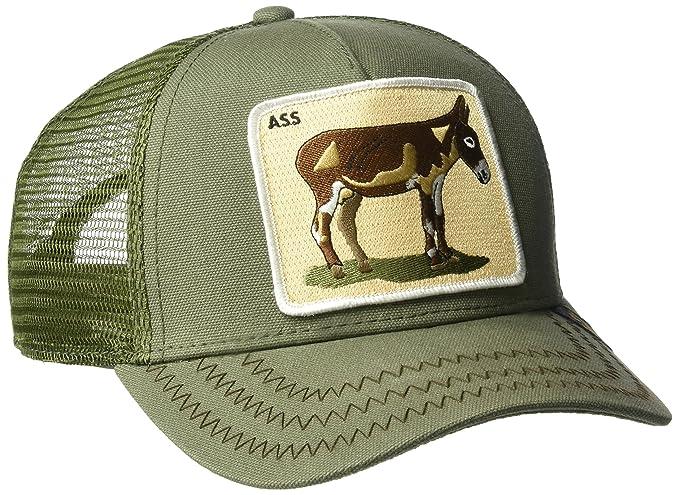 734abb78afb82 Goorin Bros Men s Donkey  Ass  Patch Trucker Hat Cap (Green)  Amazon ...