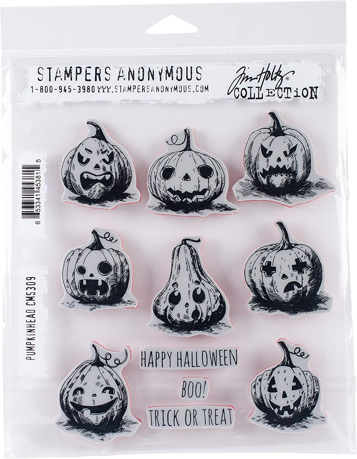 Stampers Anonymous Monstrous Cling Rubber Stamp Set 24.8 x 18.6 x 0.8 cm Multi-Colour Synthetic Material