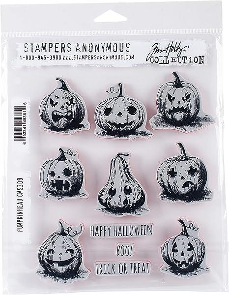 Tim Holtz Cling Stamps 7X8.5-Cadaverous