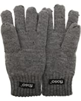 FLOSO® Childrens Unisex Knitted Thermal Thinsulate Gloves (3M 40g)