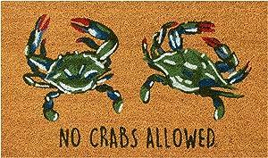 """Liora Manne Natura No Crabs Allowed Outdoor Mat Natural 18""""X30"""""""