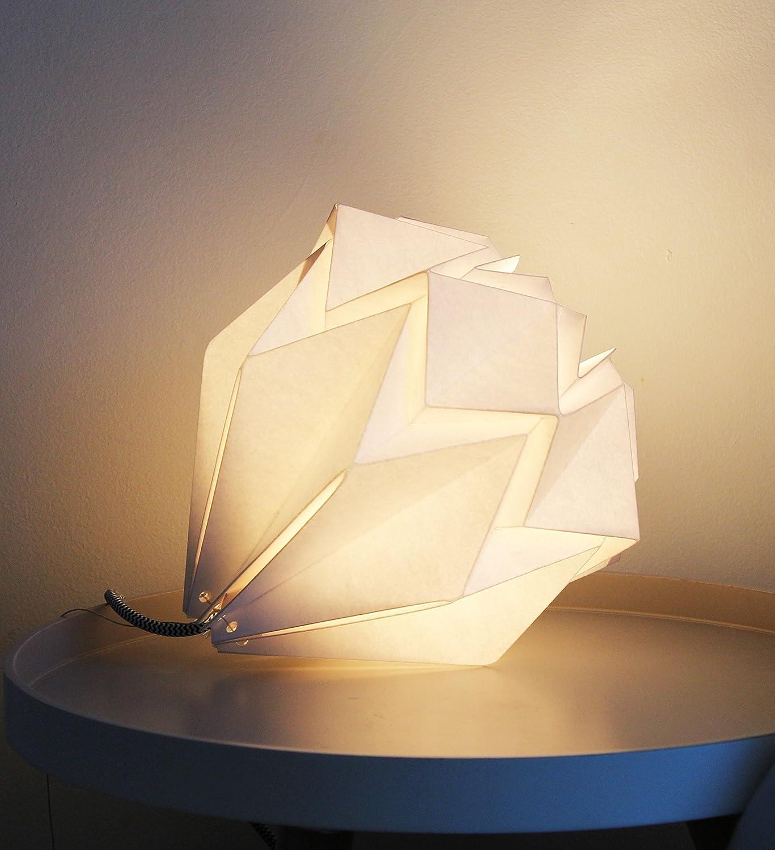 Baladeuse origami Hanahi blanc neige fait main