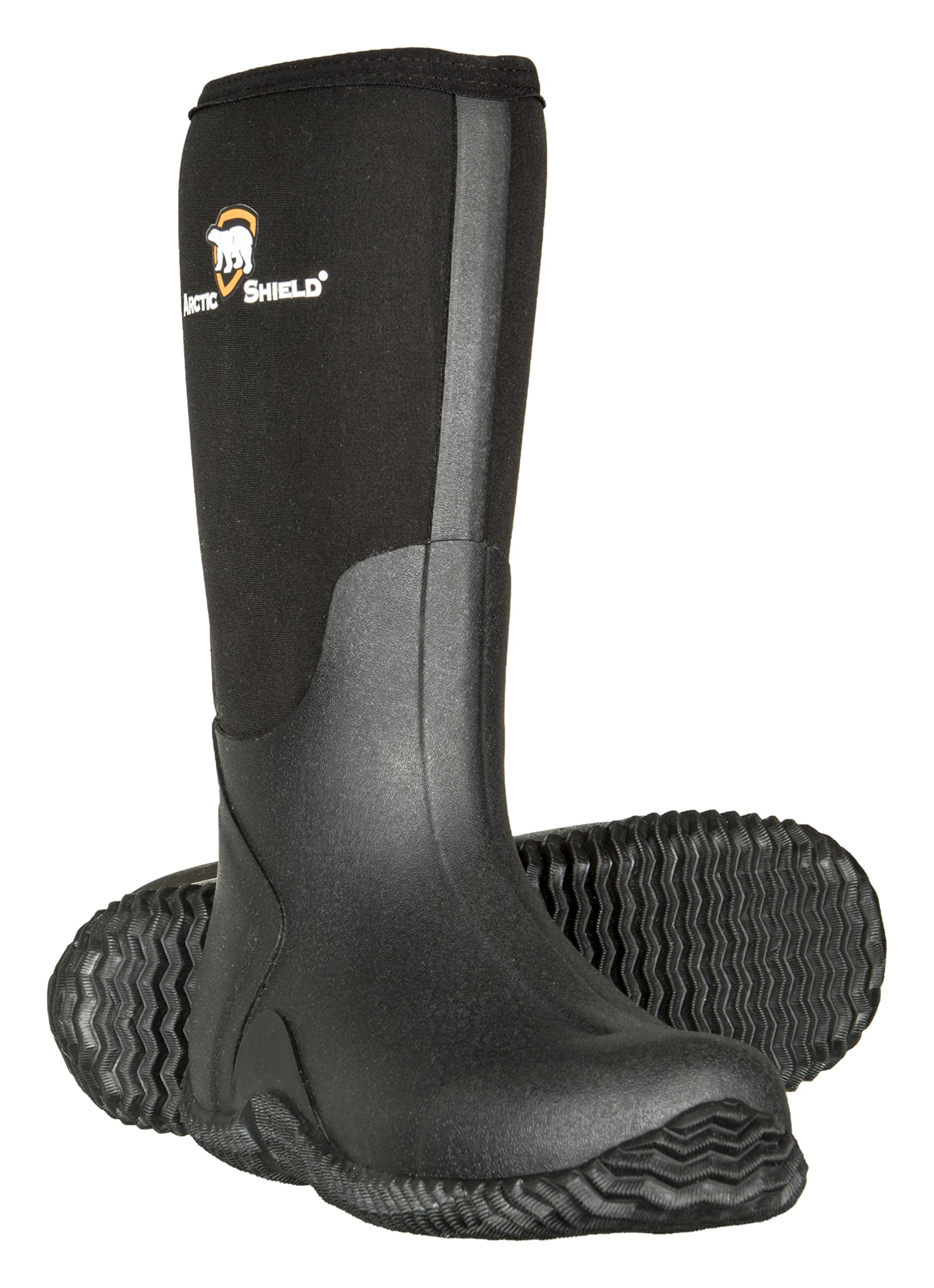 Mens Black Rubber Boots,Black,10 D(M) US by ArcticShield