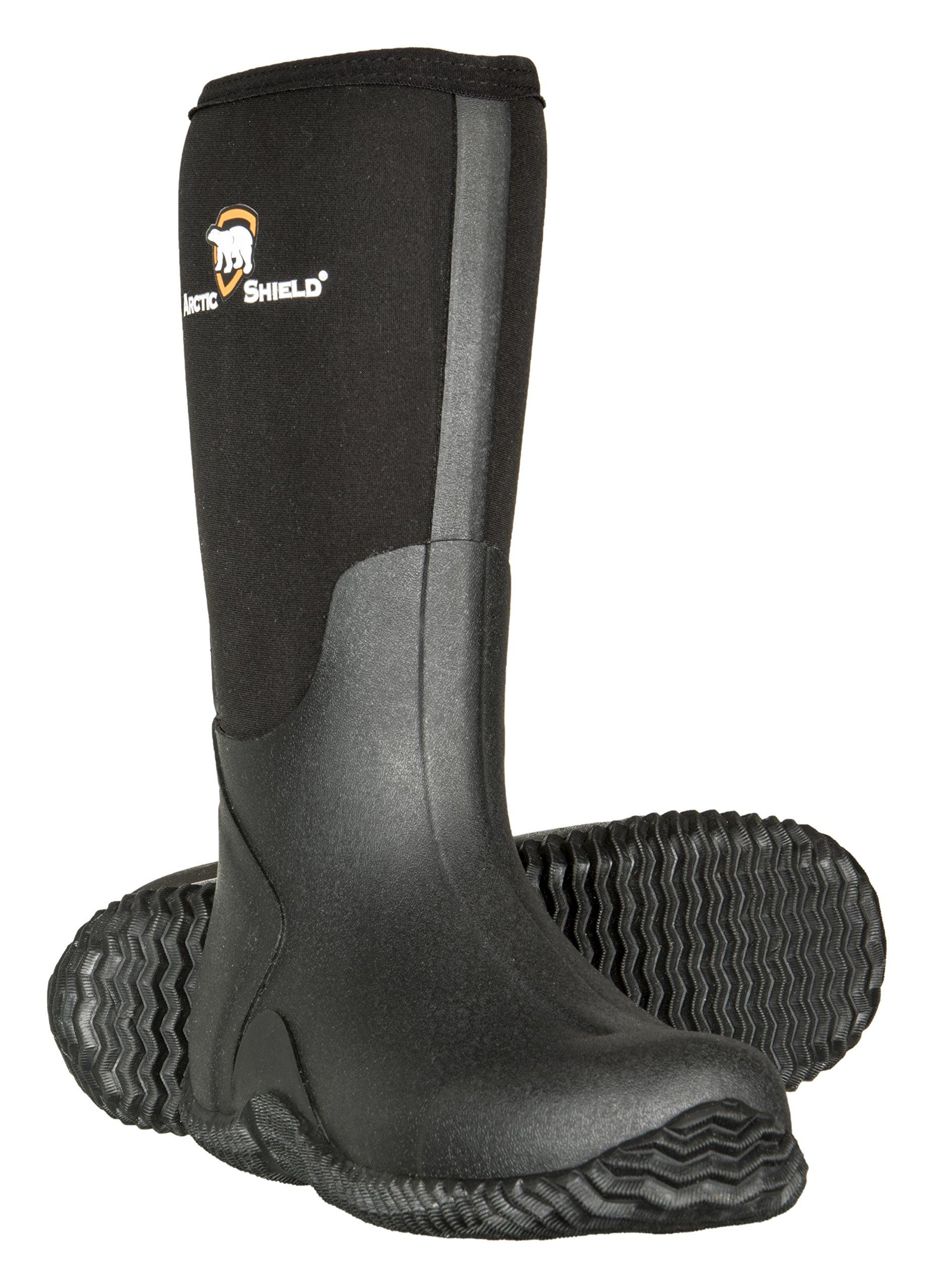 Mens Black Rubber Boots,Black,10 D(M) US