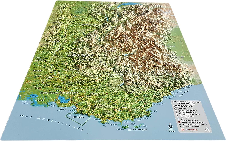 carte du relief des alpes