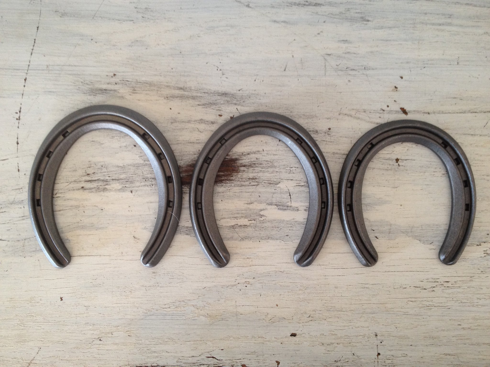 The Heritage Forge - 20 Horseshoes - Lite Rim - Sand Blasted Steel OO by The Heritage Forge