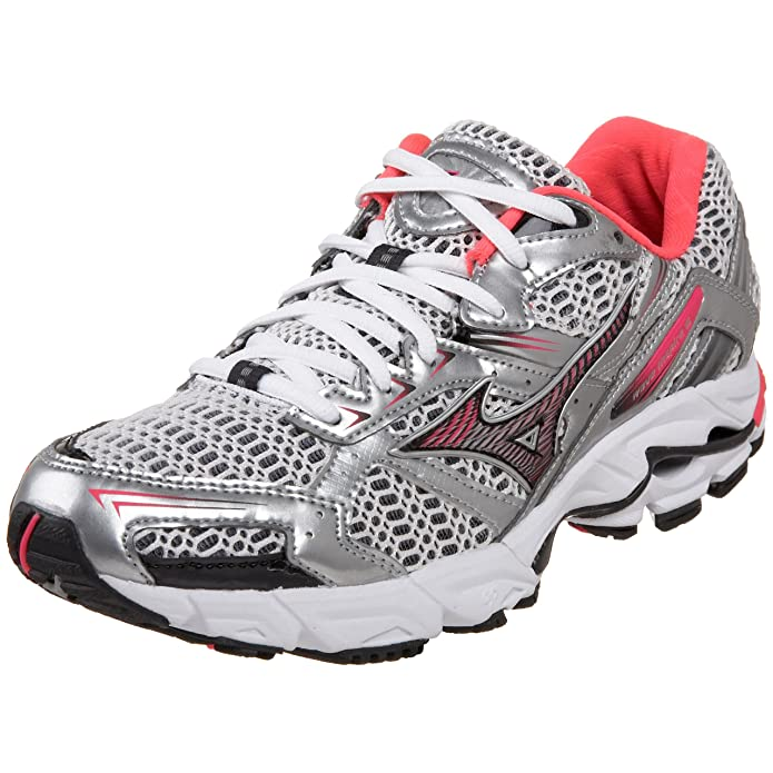 71a75434a3094 ... real amazon mizuno womens wave inspire 6 running shoe white shocking  pink anthracite 6 b running