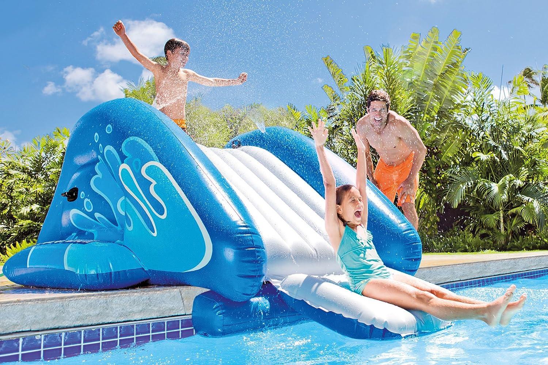 Enorme tobogán de agua hinchable y acolchado para piscina ...