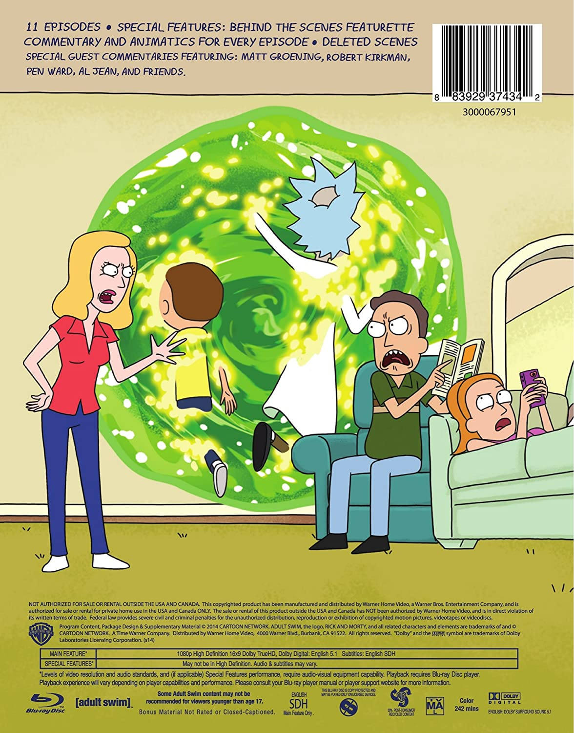 Amazon com: Rick & Morty: Season 1 [Blu-ray]: Ben Diskin, Eric Dane