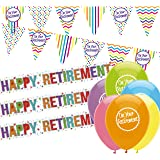 Retirement Decorations Pack: Retirement Bunting, Retirement Banners and Balloons