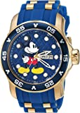 Invicta Men's 'Disney Limited Edition' Quartz Stainless Steel and Silicone Casual Watch, Color:Blue (Model: 23764)