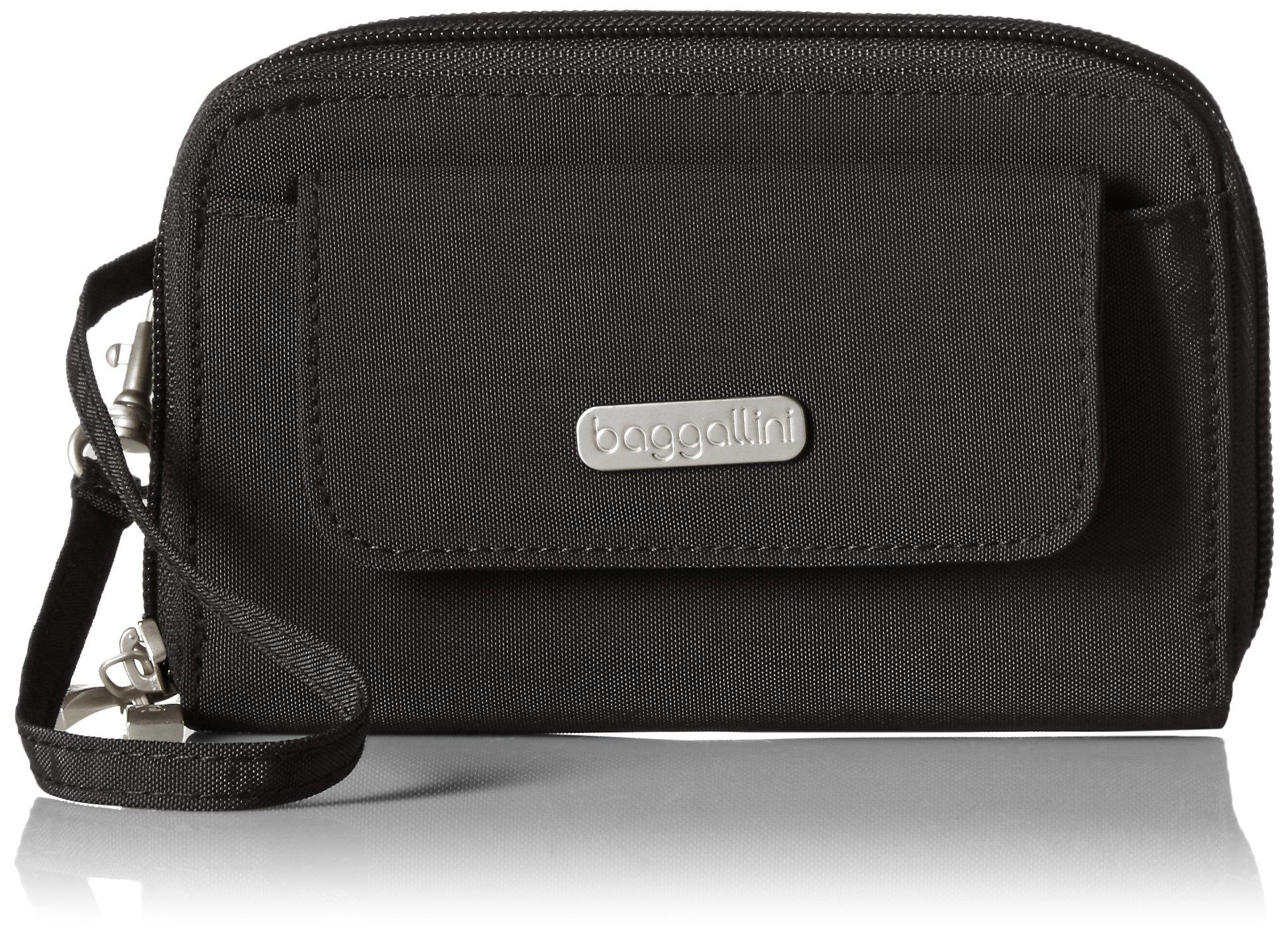 Baggallini Wallet Wristlet, Black/S