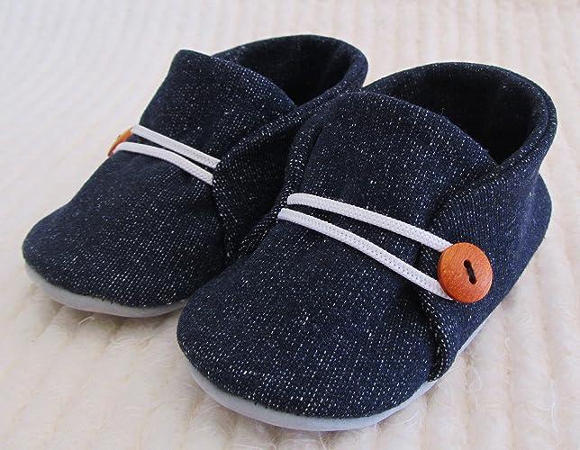 70cca82e37da Amazon.com  Blue denim baby shoes