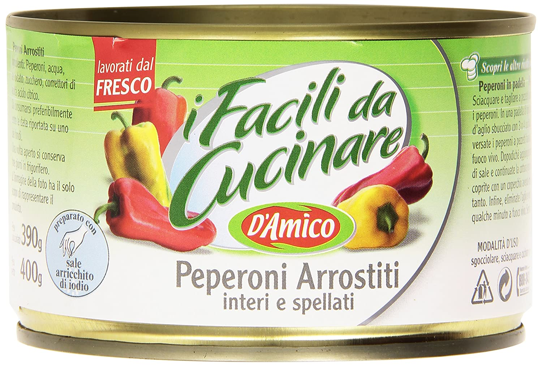 D Amico - I fácil de cocinar, pimientos arrostiti, Interi y spellati - 400 g: Amazon.es: Alimentación y bebidas