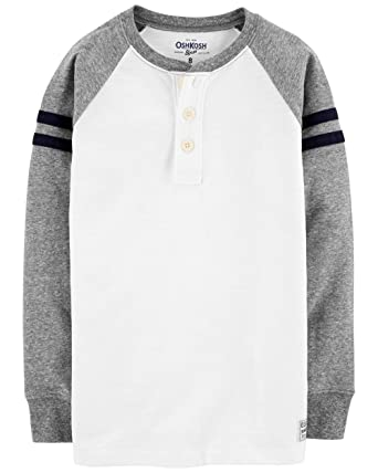 7c8194b6d Amazon.com: OshKosh B'Gosh Boys' Long Sleeve Raglan Henley: Clothing