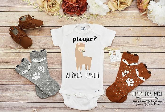 2548856d6 Amazon.com: Alpaca Onesie, Baby Onesie, Boho Baby Clothes, Baby Boy Clothes,  Fox Onesie, Fox Shirt, Fox Gift, Baby Boy Onesie: Handmade
